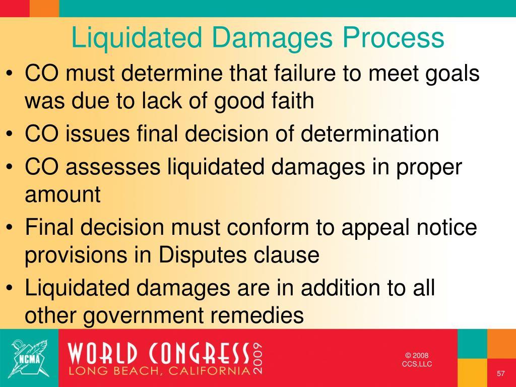 Liquidated Damages Process