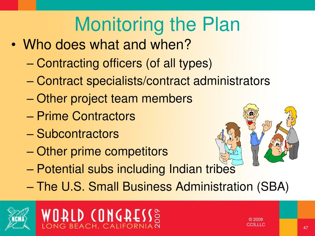 Monitoring the Plan