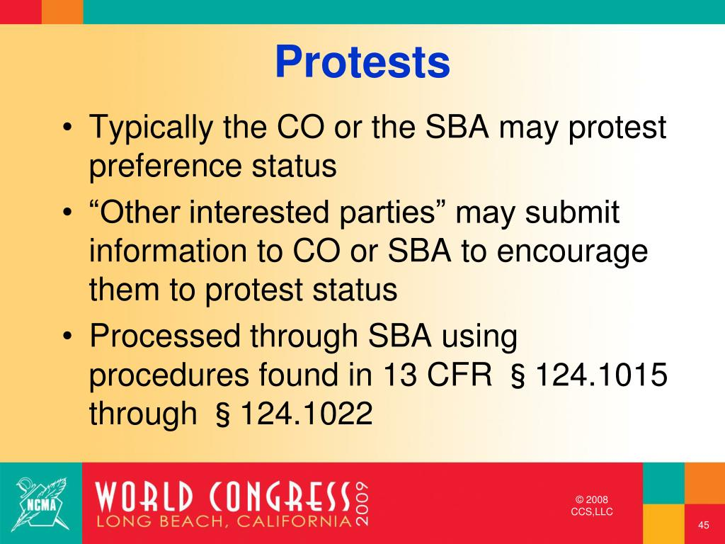 Typically the CO or the SBA may protest preference status