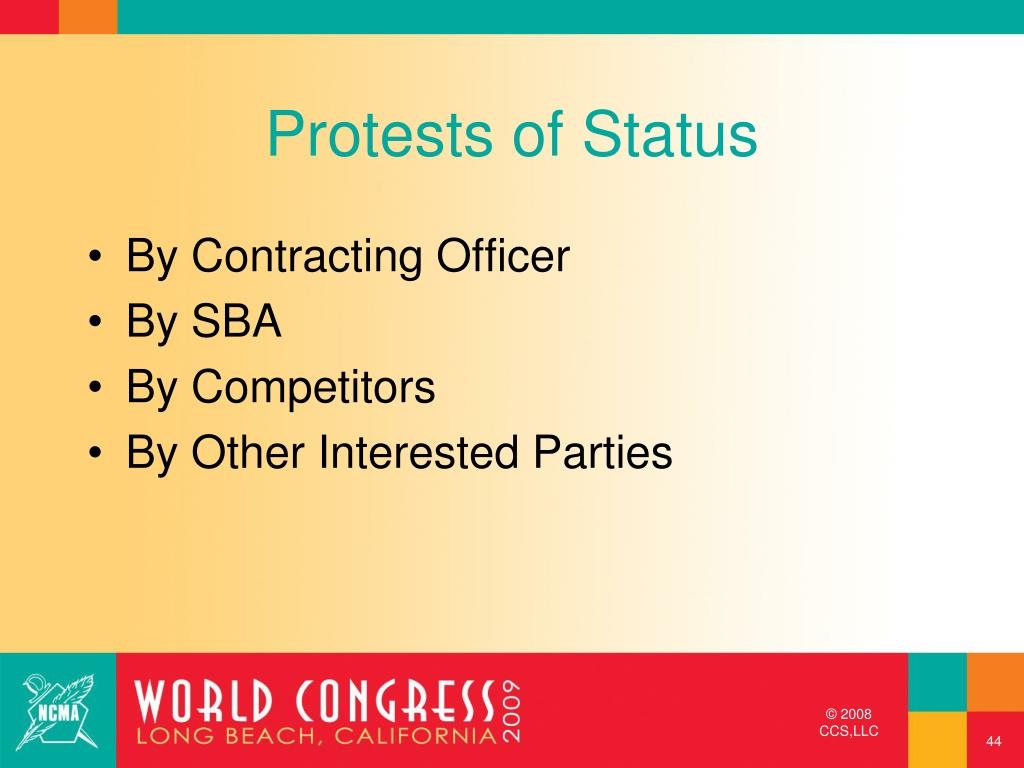 Protests of Status