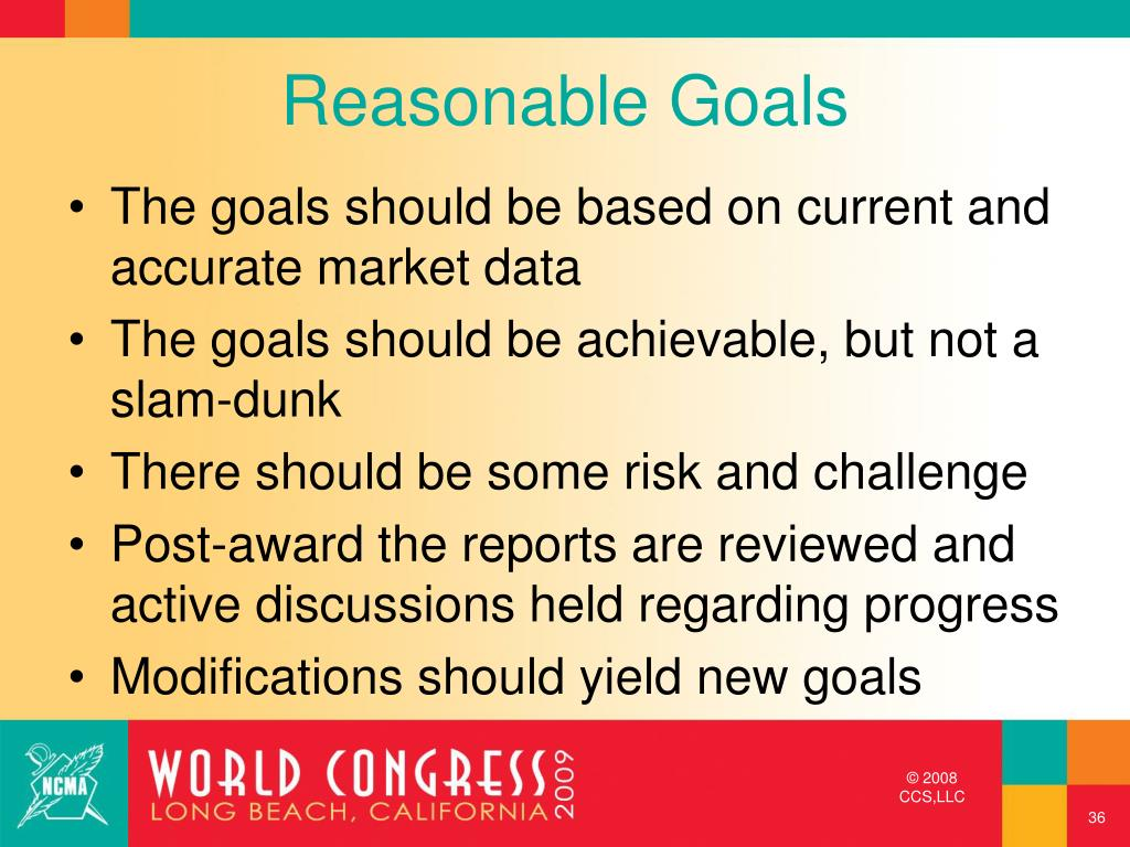 Reasonable Goals