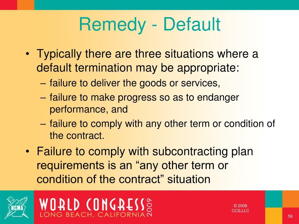Remedy - Default