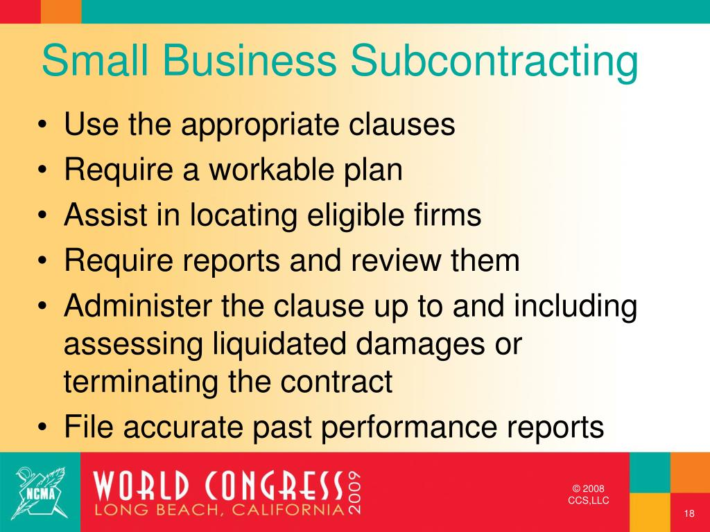 Small Business Subcontracting