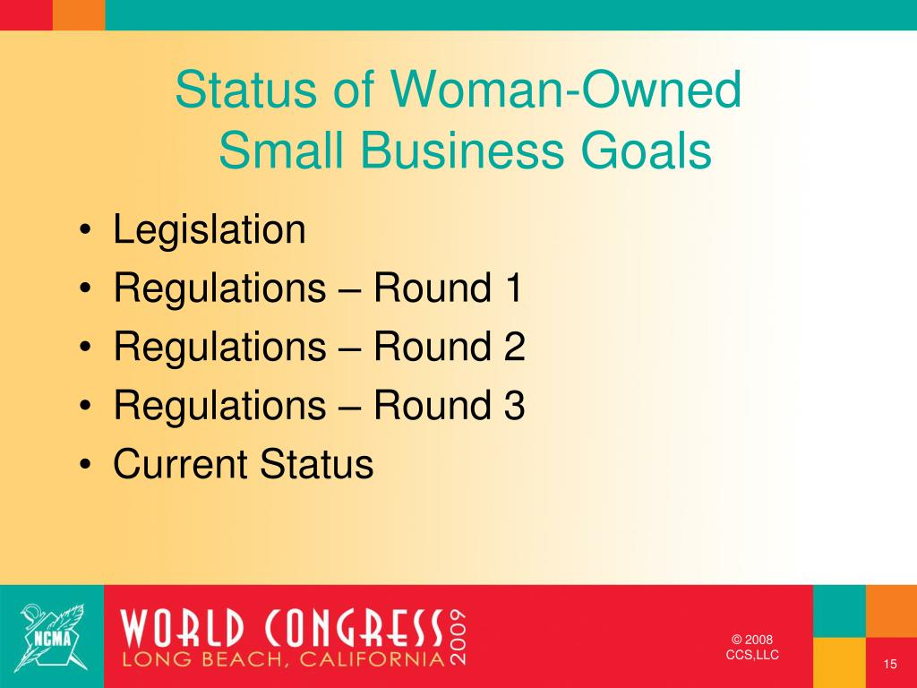 Status of Woman-Owned