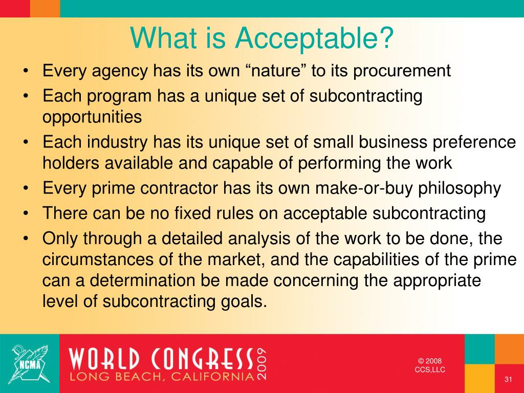 What is Acceptable?