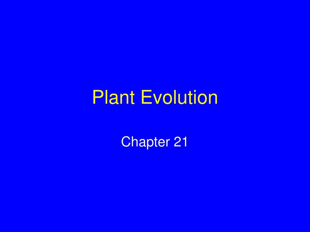 plant evolution l.