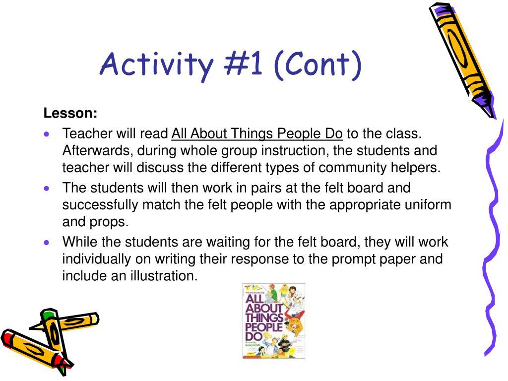 Activity #1 (Cont)