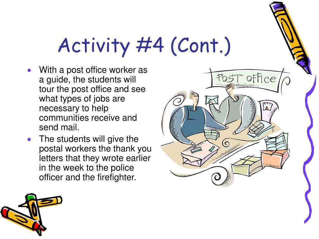 Activity #4 (Cont.)