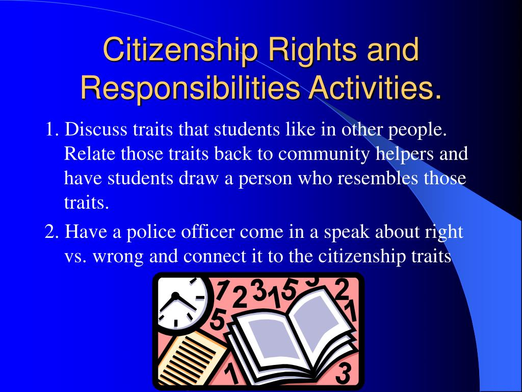 Citizenship Rights and Responsibilities Activities.