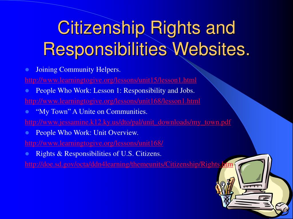 Citizenship Rights and Responsibilities Websites.