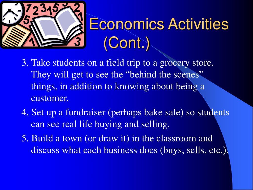 Economics Activities (Cont.)