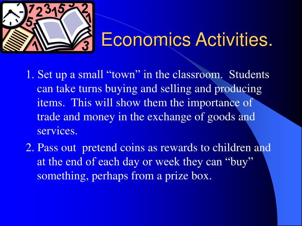 Economics Activities.