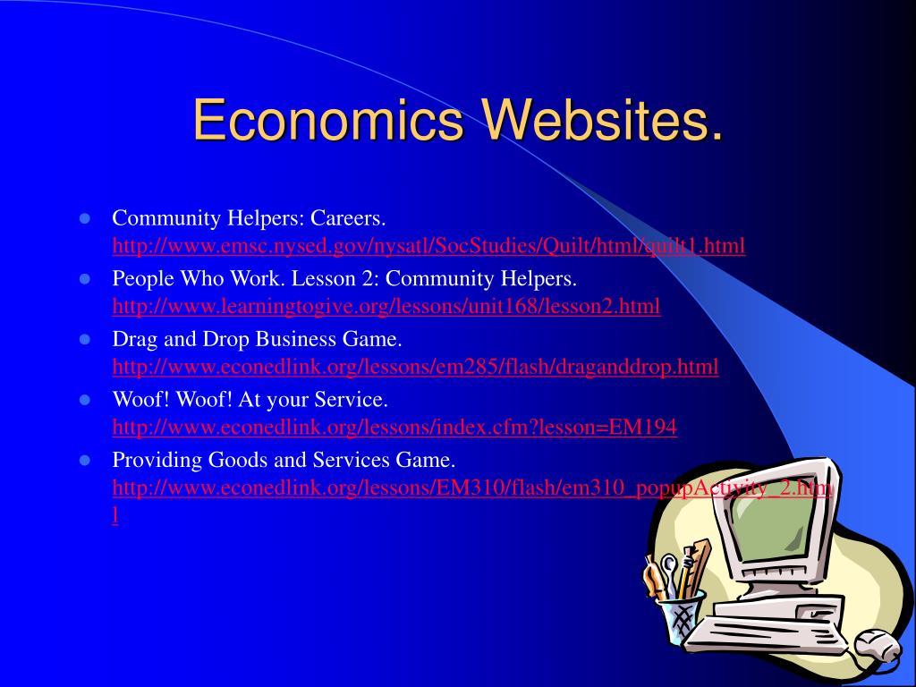 Economics Websites.