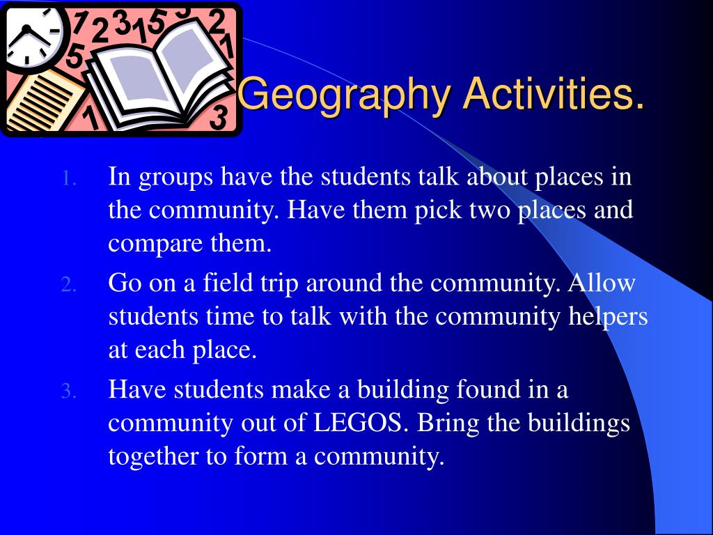 Geography Activities.
