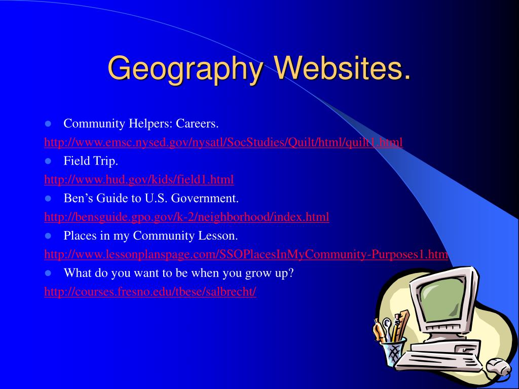 Geography Websites.