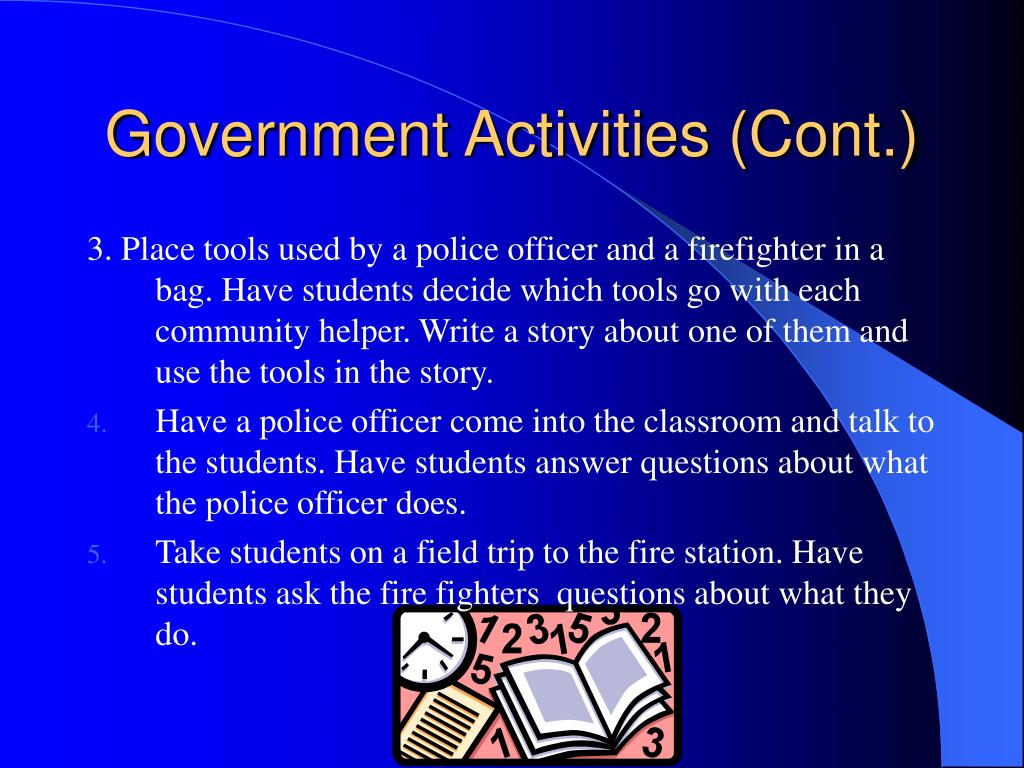 Government Activities (Cont.)