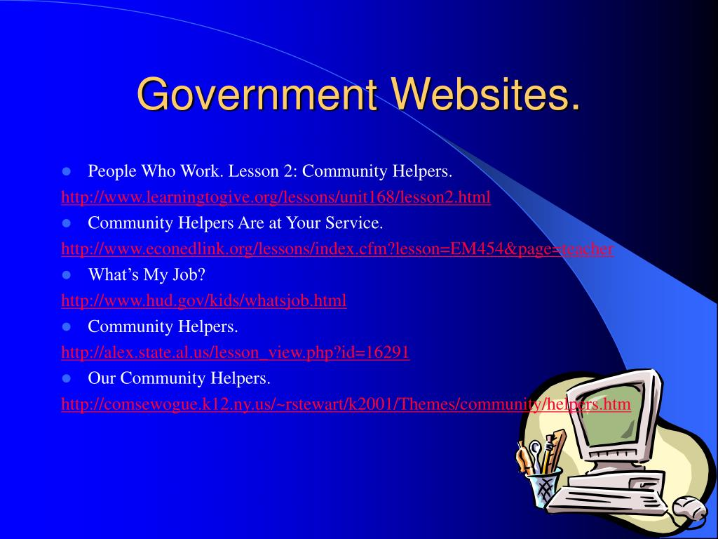 Government Websites.