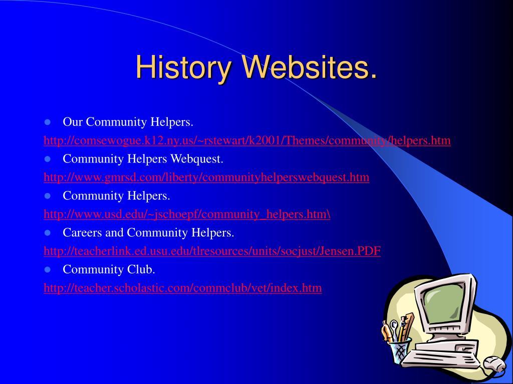 History Websites.