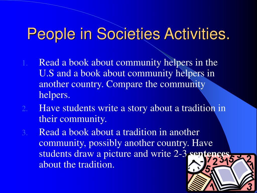People in Societies Activities.
