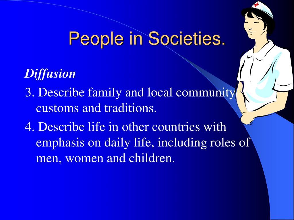People in Societies.