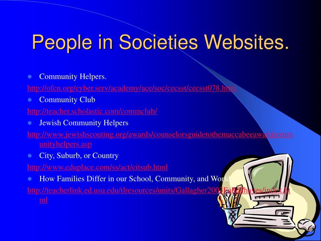 People in Societies Websites.