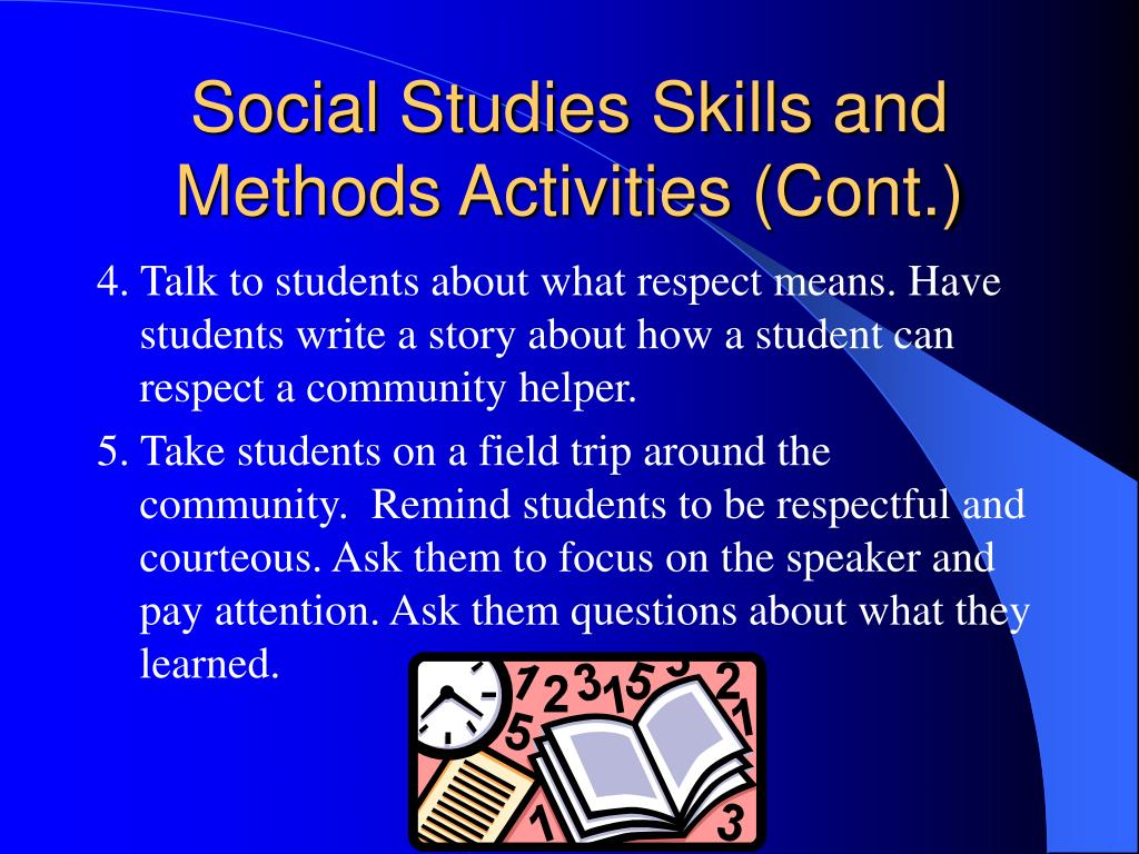 Social Studies Skills and Methods Activities (Cont.)