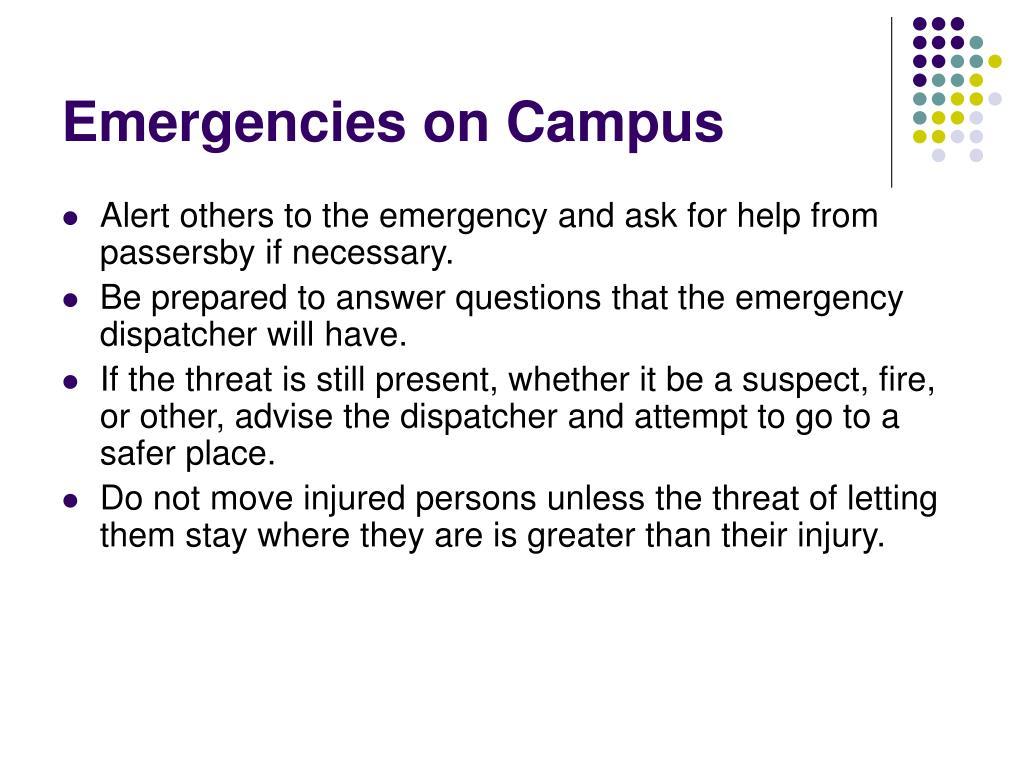 Emergencies on Campus