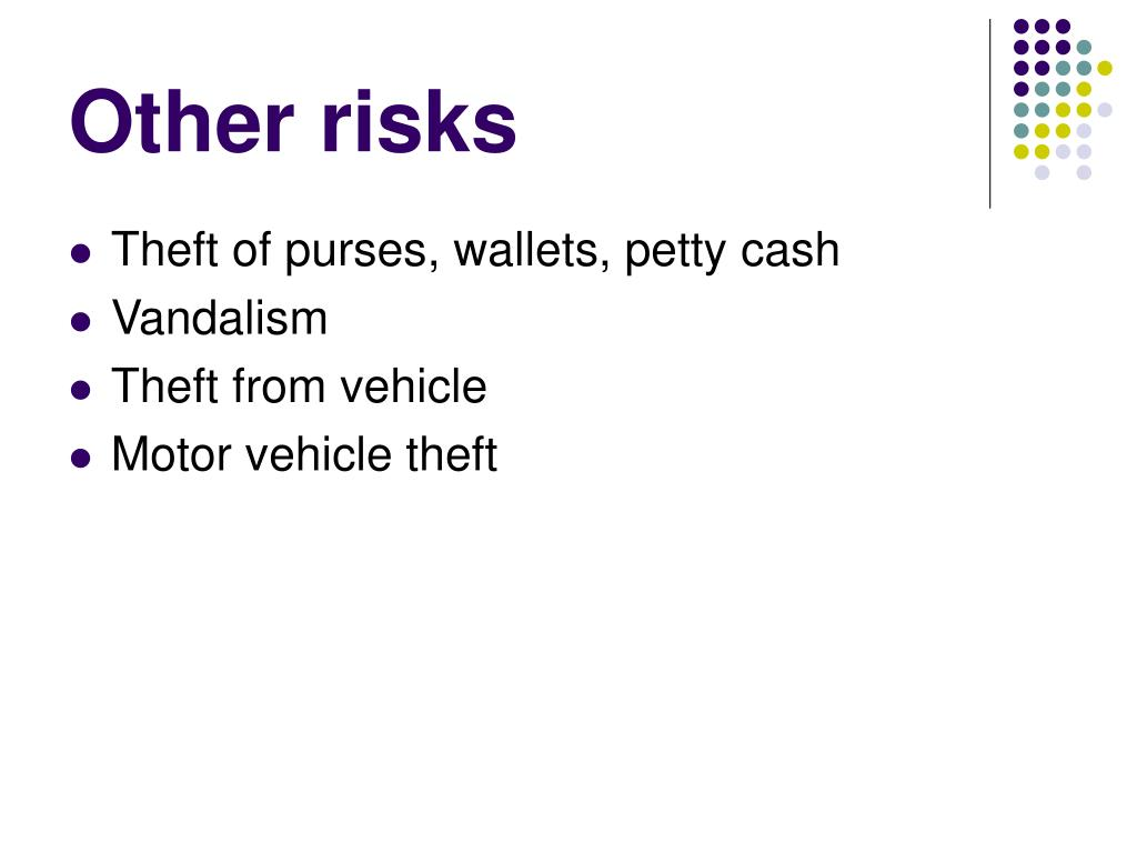 Other risks