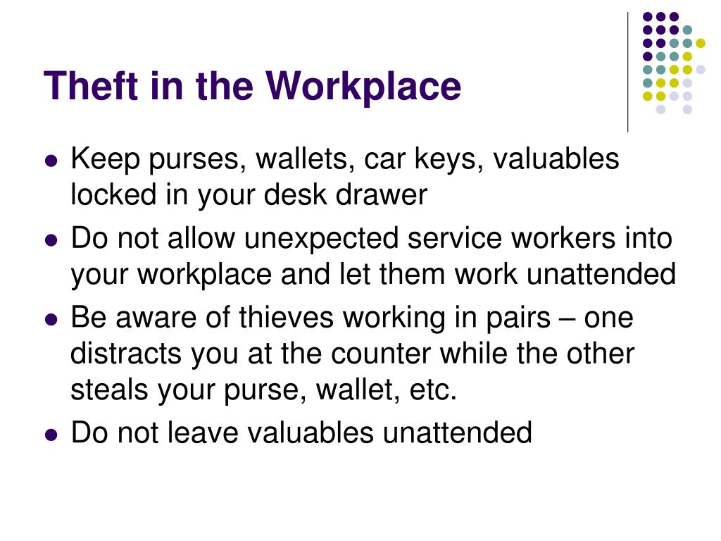 Theft in the Workplace