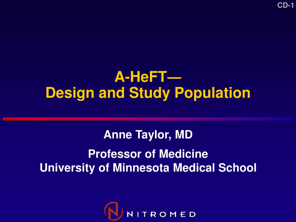 a heft design and study population l.