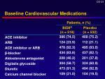 baseline cardiovascular medications