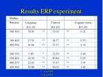 results erp experiment