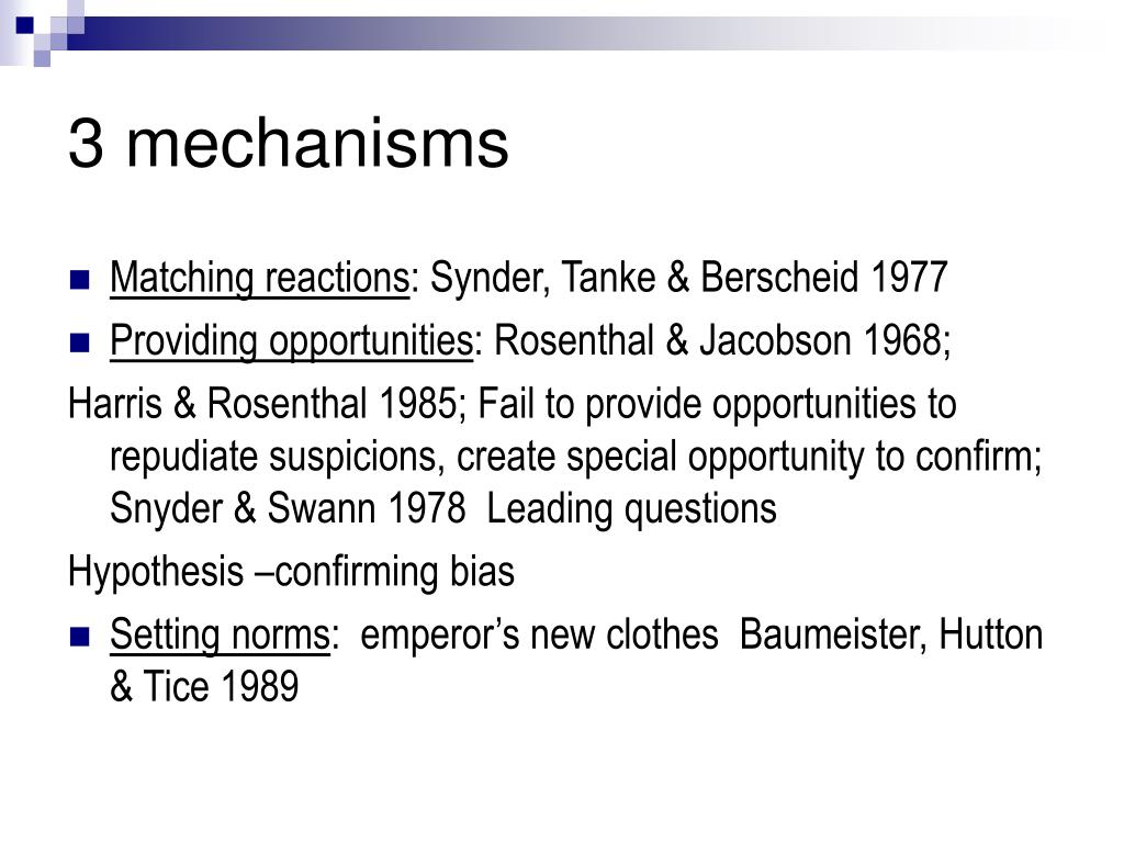 3 mechanisms