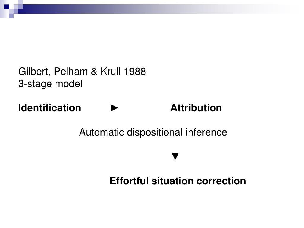 Gilbert, Pelham & Krull 1988