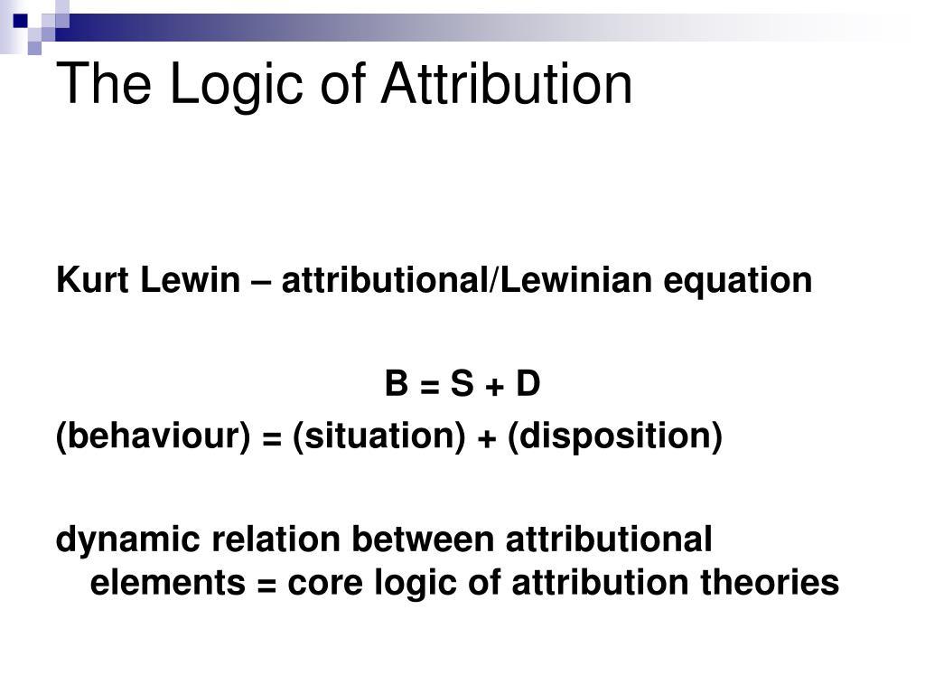 The Logic of Attribution