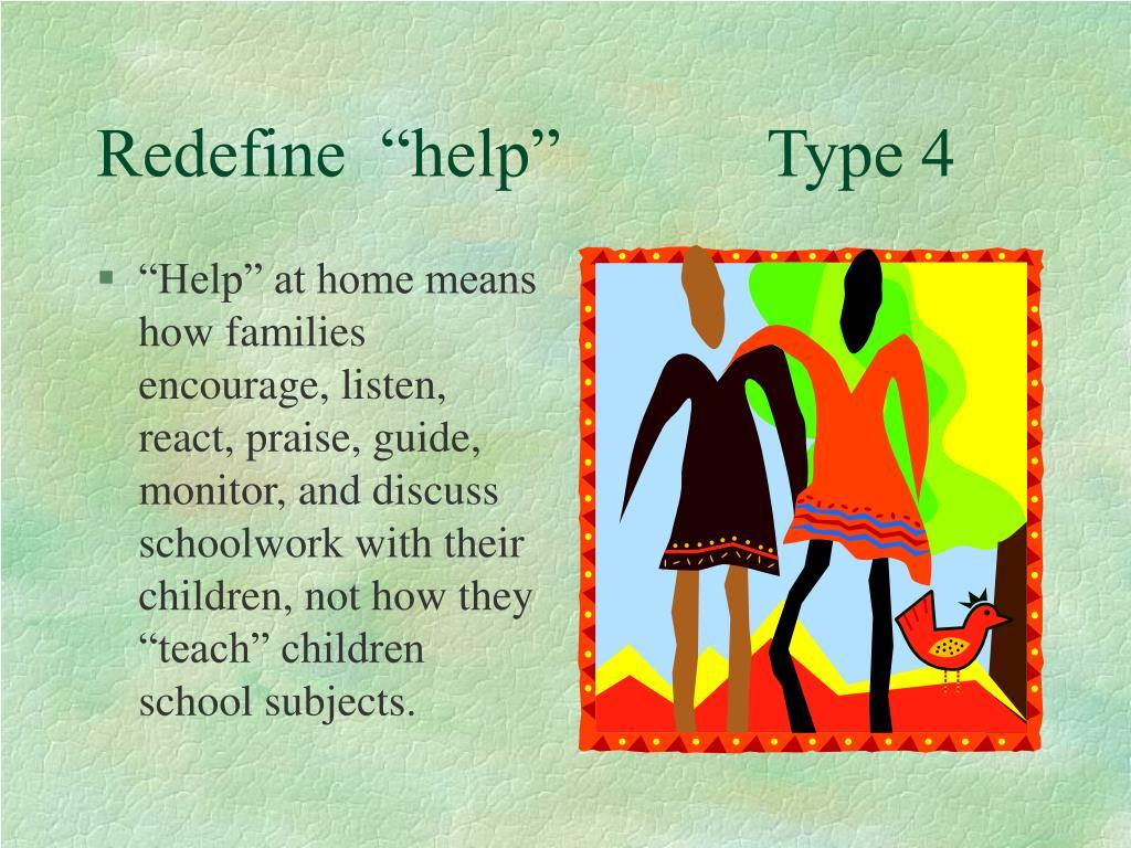 """Redefine  """"help""""            Type 4"""