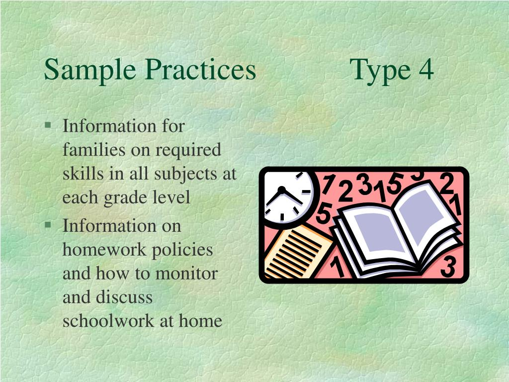 Sample Practices            Type 4