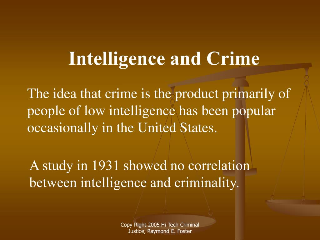 Intelligence and Crime