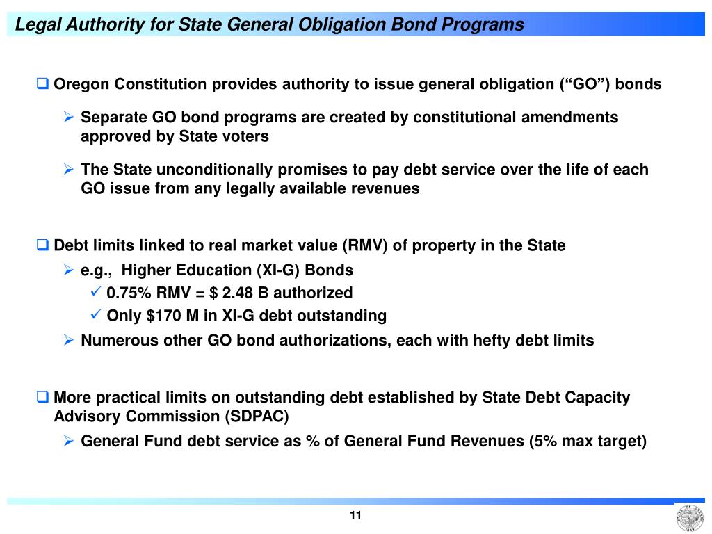 Legal Authority for State General Obligation Bond Programs