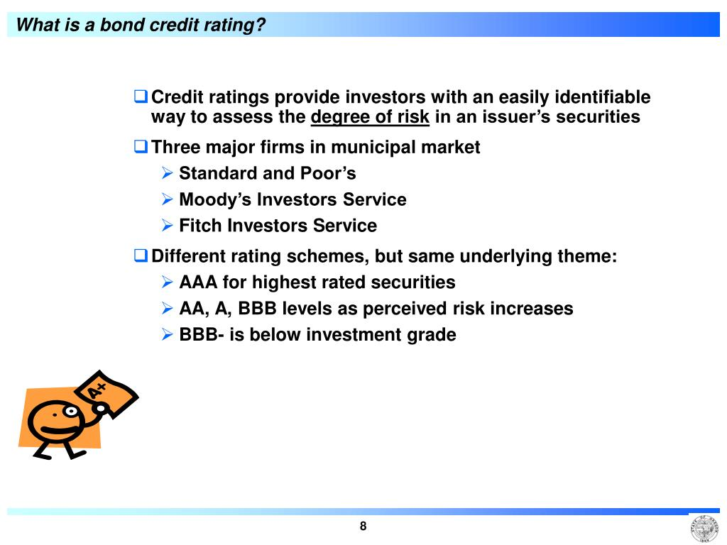What is a bond credit rating?