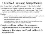 child feed care and xerophthalmia