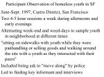 participant observation of homeless youth in sf