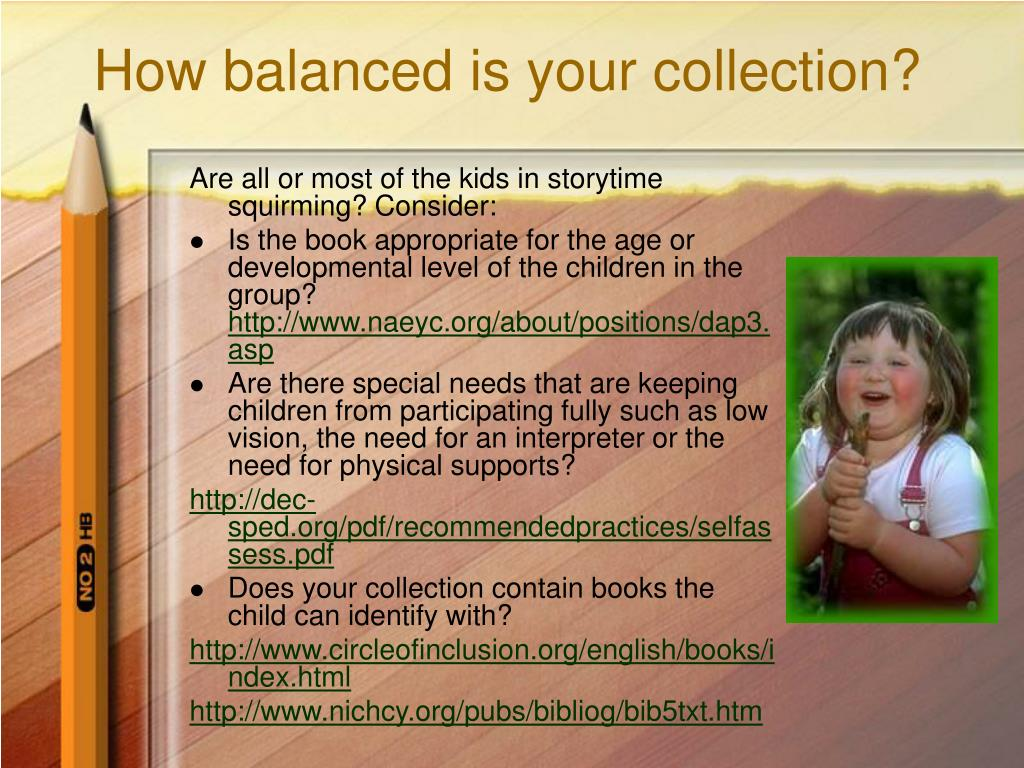 How balanced is your collection?