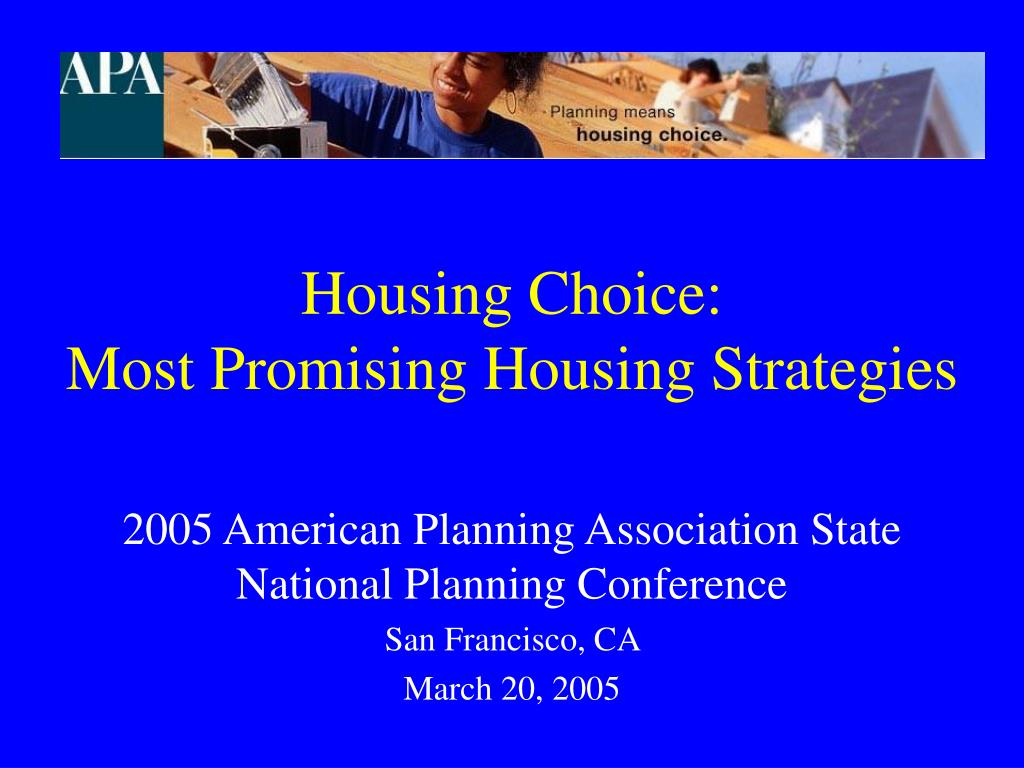 housing choice most promising housing strategies l.