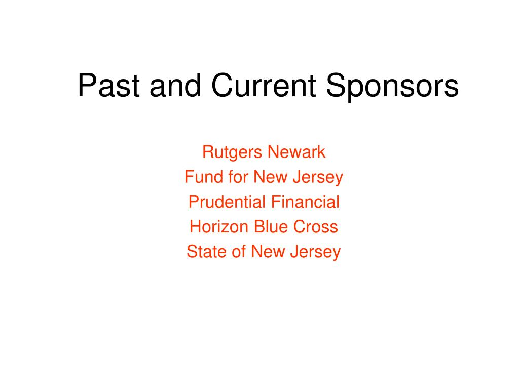 Past and Current Sponsors