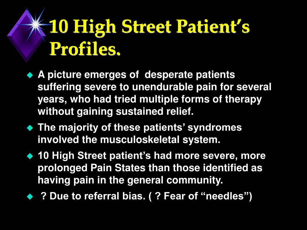 10 High Street Patient's Profiles.