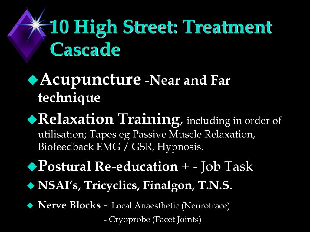 10 High Street: Treatment Cascade