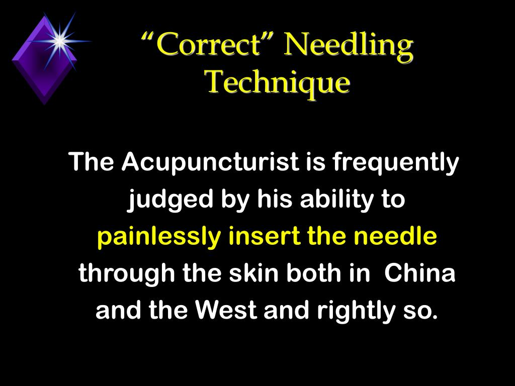 """Correct"" Needling Technique"