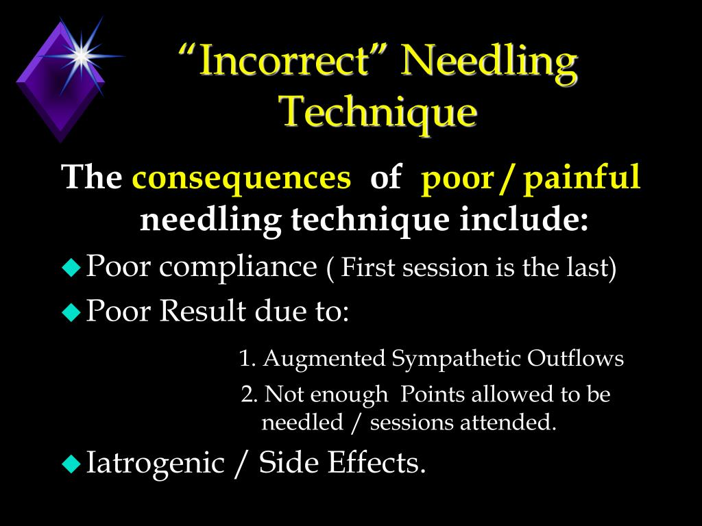 """Incorrect"" Needling Technique"