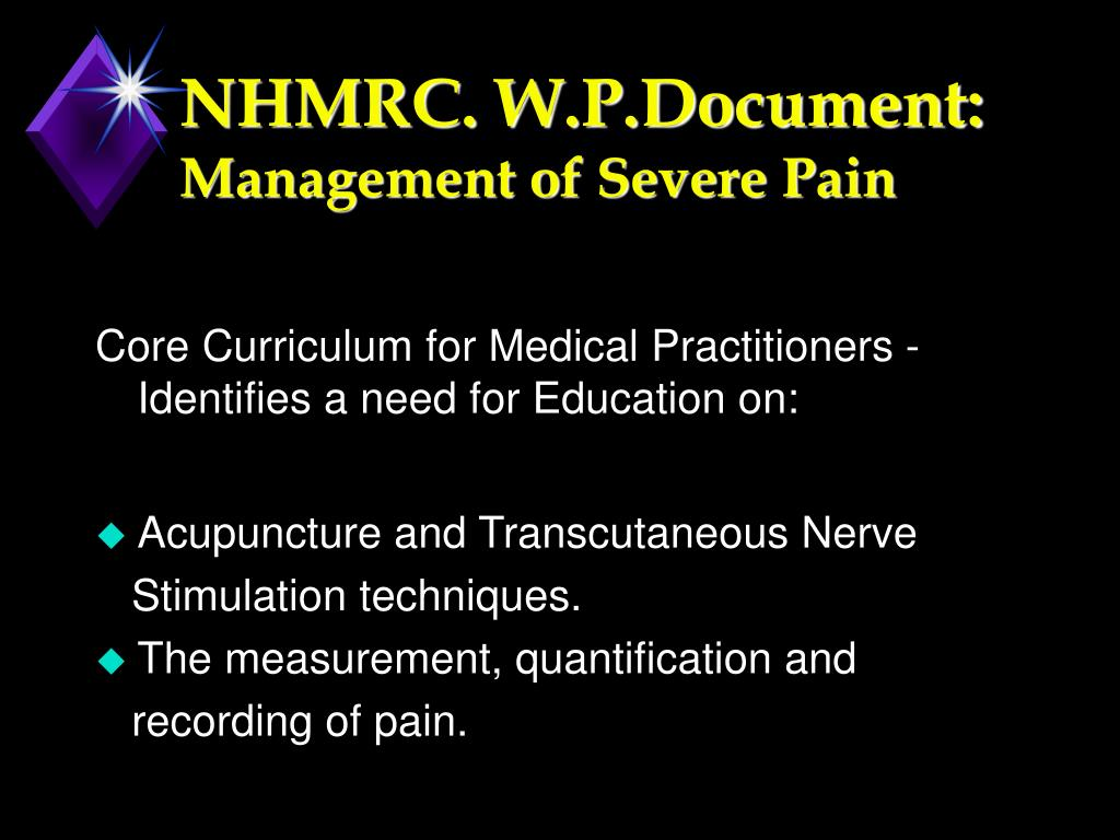 NHMRC. W.P.Document: